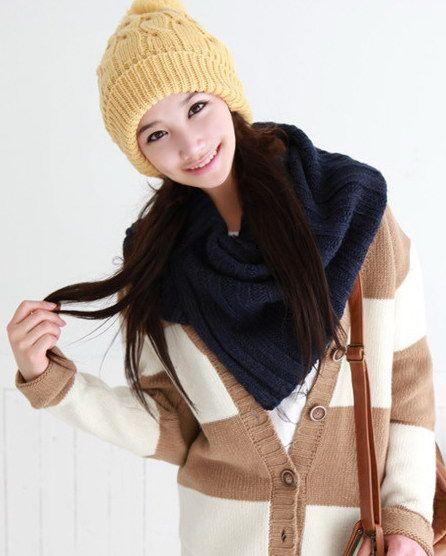 秋冬季!看韩国女生15款围巾搭配